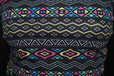 Cotton Jersey Lycra Geometric Print  Knit Fabric Very Soft 7 .5 oz