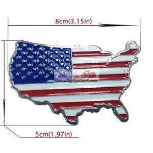 United States America USA Land Flag Metal Hood Front Grille Grill Badge Emblem