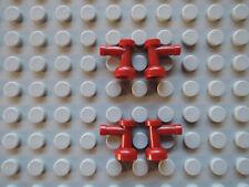 LEGO 4 x Wasserhahn Zapfhahn Tap 4599 dunkelrot  Falcon 4504