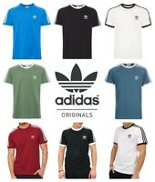 Adidas Originals Mens T Shirt 3-Stripes California Cotton T-Shirt Short Sleeve