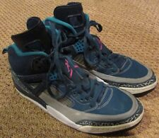 Nike Air Jordan Spizike Space Blue/Pink/Wolf Grey/Teal Basketball Shoes Size 11