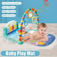 3 in 1 Baby Musical Gym Play Mat Lay & Play Fitness Fun Piano Boy Girl Gifts US