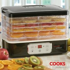 Cooks Professional Digital Food Dehydrator 5 Tray Fruit Preserve Beef Jerky Dry