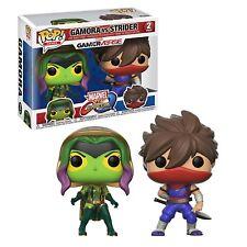 Funko Marvel VS Capcom POP Gamora Vs Strider Vinyl Figure Set NEW Toys In Stock