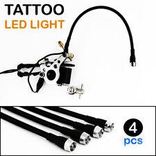 4pcs Flexible Tattoo Machine White LED Light Adjustable Assistant Gun Supply