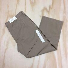 NWT Sonoma Straight Fit Flat Front Men's 40x30 4-pocket All Cotton Carmel Khakis