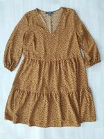 Size 8 Mustard Yellow Polkadot Dress Summer Smock Oversized Floaty Tea Spotty