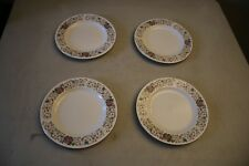 Set Of 4 Farberware Monaco 3111 Floral China Dessert Plates
