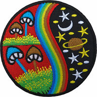 Magic Mushroom Patch Embroidered Rainbow Star Moon Planet Sew / Iron On Badge