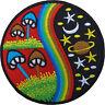 Magic Mushroom Patch Embroidered Rainbow Star Moon Planet Sew / Iron On Badge