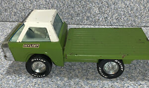 Vintage Nylint Farms Toy Green Truck with Bed 