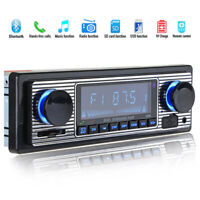 Classic Car Stereo Bluetooth MP3 Audio Retro Radio Player FM USB AUX & Remote D