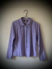 Jordache Fashion Light Purple Button Down Top Size L Excellent Condition!