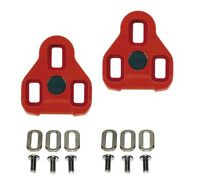 EXUSTAR E-ARC10 RED LOOK KEO ROAD BIKE PEDALS CLEATS - 7° Floating