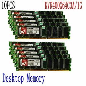 10x 1GB DDR PC3200 400Mhz 184Pin 2.5V DIMM RAM Desktop Memory KVR400X64C3A/1G