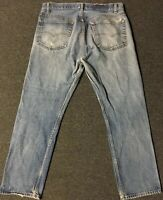 Vtg Levi's 501 Button Fly Jeans 36/30 Faded Distressed Grunge Biker 80s 90s USA