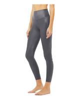 ALO YOGA Airbrush 7/8 High Waist Legging, Medium, Anthracite Shine