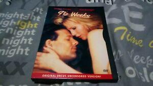 9 1/2 Weeks - Nine and a Half Weeks   uncut region 1 dvd. Kim Basinger snap case