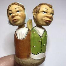 Vintage Anri Kissing Couple Mechanical Bottle Topper