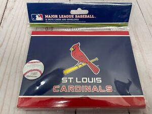 St. Louis Cardinals Major League Baseball 12 Note Cards And Envelopes