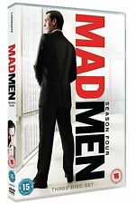 Mad Men - AMC Series - 4 Complete Collection 3Disc Set Brand New Region 2 UK DVD