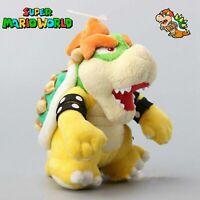 7'' Super Mario Bros. Sitting Bowser Koopa Stuffed Plush Doll Kids Xmas Gift Toy