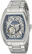 Kenneth Cole $200 Automatic 21 Jewels Navy Skeleton Dial Men's Watch 10030812