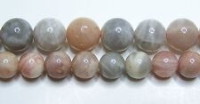 Multi Color Moonstone 4mm-6mm-8mm-10mm Real Stone 15.5