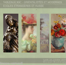 Auction Catalog French Russian Orientalist Moderne 19th century Painting
