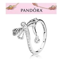 Pandora Silver Dreamy Dragonfly Ring S925 ALE