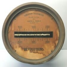 "Antique Steam Engine ~ Frahm Vibration Tachometer ~ Biddle Philadelphia 8"" Brass"