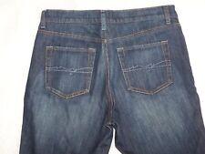 Womens West Side New York & Company Flare Blue Denim Jeans Size 10P Stretch EUC