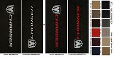 Lloyd Mats Dodge Charger Sideways Logo Velourtex Front Floor Mats (2006 & Up)