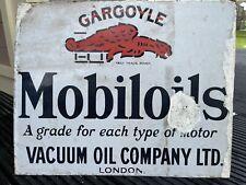 More details for gargoyle mobiloils vintage enamel sign, goodwood revival.