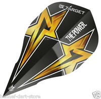"6 Dart Flights ""PHIL TAYLOR"" Gen 3 Edge Black 330500"
