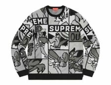 NEW Supreme Black/White Cartoon Sweater in Size XL - SOLD OUT - Ready to Ship!