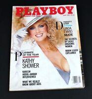 VTG Playboy Magazine June 1986 Linda Evans Playmate of Year Kathy Showers +