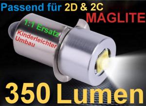MAGLITE CREE LED Upgrade (350LM) Passend für 2D & 2C - kostenloser Versand !!!