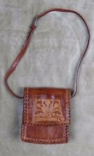 Handmade Glossy Brown Small Leather Saddle Purse
