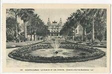 Monaco - Monte-Carlo, Le Casino et les Jardins - 1920's postcard