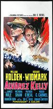 cartel de la película Álvarez KELLY w. holden, r. widmark E.DMYTRYK