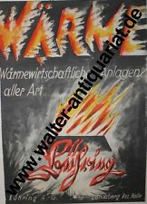 Heat economy Bühring Landsberg Hall Large Advertising Display Anno 1926 Advertising