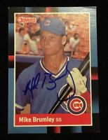 MIKE BRUMLEY 1988 DONRUSS Autograph Signed AUTO Baseball Card 609 CUBS
