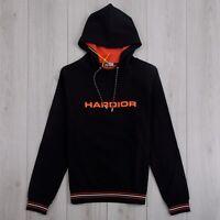 DIOR HOMME 900$ Authentic New Black Cotton Hardior Print Hoodie Sweatshirt