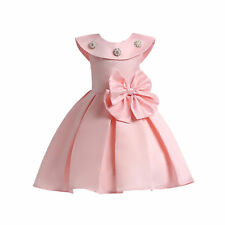 Flower Girl Princess Dress Kid Bowknot Party Wedding Pageant Formal Tutu Clothes