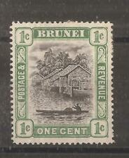 BRUNEI  1907 1c grey-black and pale green   mh
