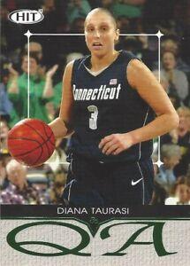 2004 SAGE HIT Q & A GREEN * DIANA TAURASI * CARD # Q3 UCONN WNBA PHOENIX MERCURY