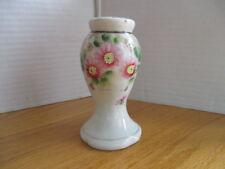 Vintage Hat Pin Holder Porcelain Made In Japan Hand Painted-Floral