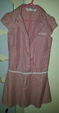 Red gingham school dress age 8 years from Bhs