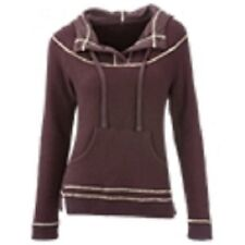 NWT Ascend Women's Brown Sweater Knit Hoodie Fall & Winter Size Small $78 Retail